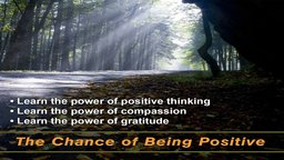 The Wellness Series: The Chance of Being Positive - Learn the Power of Positive Thinking